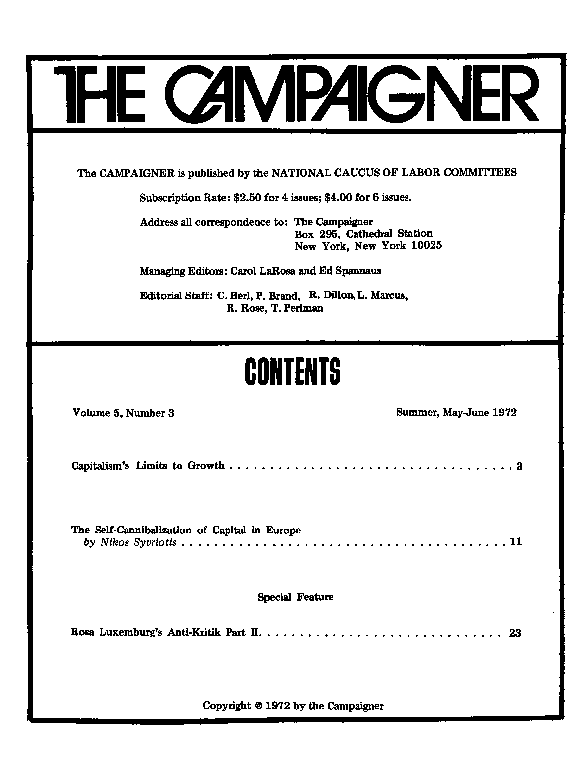index of archive campaigner